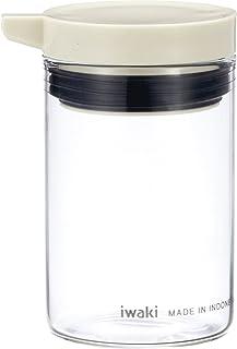 iwaki(イワキ) 耐熱ガラス 調味料入れ 醤油差し 液だれしない カラフルトップ ホワイト 80ml KB5022-W