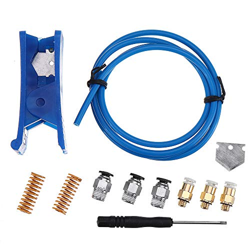 Meijin Printer Accessories 2 * 4mm Blue PTEF Tube + PC4-01 Connector + KJH 04-M6 Connector + 10 * 25mm Spring + Cutter Kits for 3D Printer