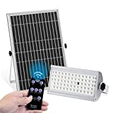 KUFUNG Solar Lights Outdoor, IP65 Waterproof Motion Sensor Flood Light, LED Wireless Security Lights with Remote Control, 2500 Lumens LED Solar Lamp for Shed, Yard, Fence, Patio, Gutter, Street