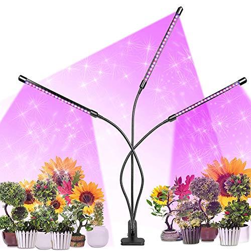 Aomier Lámpara LED de espectro completo para plantas, lámpara de cultivo para interiores, protección de plantación para plantas de interior, para plantas de interior, jardinería, invernadero
