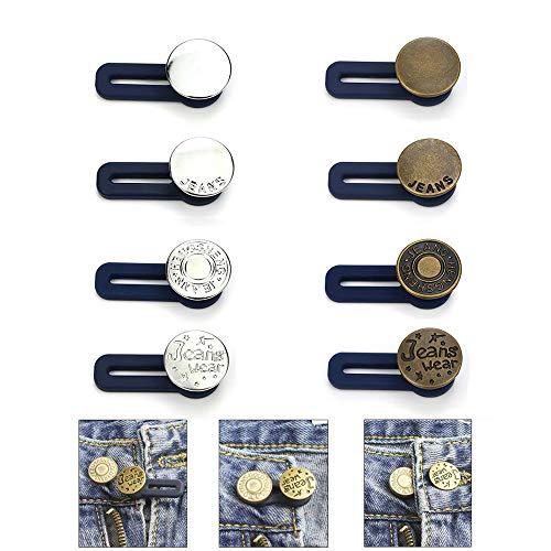 Pantalón Elástico Extensor de Cintura Paquete de Extensores Ajustables de Botones de...