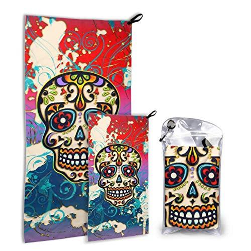DJNGN Evil and Dead Love Poppy - Paquete de 2 toallas de microfibra de secado rápido para el cuerpo, toallas de playa para baño, secado rápido, lo mejor para gimnasio, viajes, mochileros, yoga, Fitnes