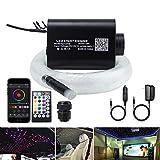 AKEPO 16W Car Home RGBW APP+Music Control Fiber Optic Lights Star Ceiling Light Kit, 28key...