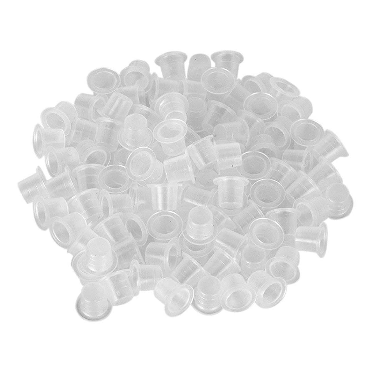 植生石化するウサギタトゥー用品タトゥー用品カラーカップホワイトラージミディアムスモールカラーカップ1000パックタトゥーアクセサリータトゥーカップ(ブルーS)(PandaWelly)