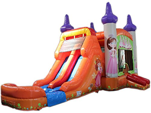 Sale!! Commercial Grade 28 Foot Princess Wet/Dry Combo Bounce House Inflatable