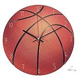 TOOGOO Reloj De Pared Decorativo Para El Hogar Reloj De Pared De Madera Estilo Deportivo Reloj De Habitación De Ni?os Dormitorio Sala De Estar Baloncesto