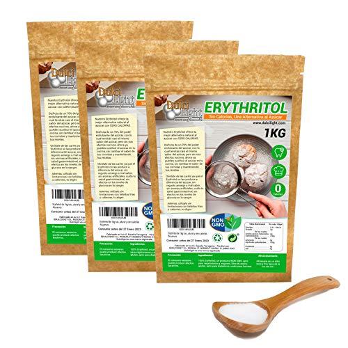Eritritol 100% Natural Consumo Sostenible 3Kg pack en envases...