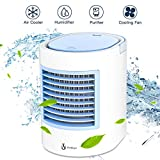 Portable Air Conditioner, Portable Cooler, Quick & Easy Way to Cool personal Space, As Seen On TV, Suitable for Bedside, Office and Study Room. Three Wind Level Adjustment