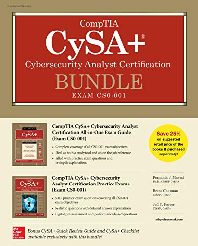 CompTIA CySA+ Cybersecurity Analyst Certification Bundle (Exam CS0-001)