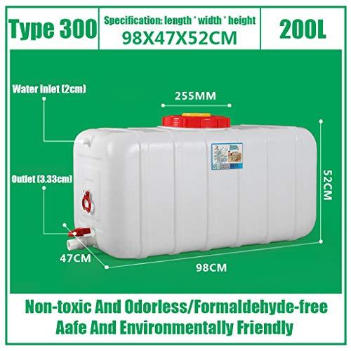 HWhome Almacenamiento De Agua De Plástico Cubo 25L/45L/80L/110L/160L/200L Contenedor con Agua Tap HDPE Nevera Bebida Líquida del Tanque Depositos De Agua De Lluvia (Size : F)
