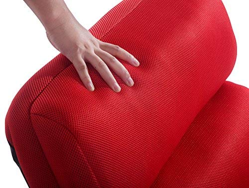 Merax Relaxing Foldable Lazy Pillow Stylish Sofa Beds Lounge Chair, Red