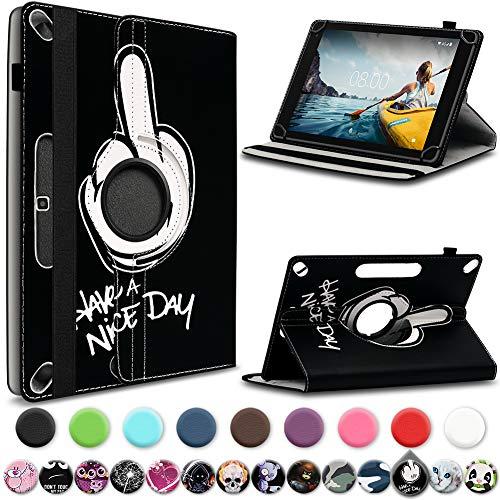 UC-Express Medion Lifetab X10313 Tablet Hülle Tasche Schutzhülle Cover 360° Drehbar, Farbe:Motiv 7