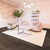 BELLEZE Parma Luxury Ultra Soft Fluffy Area Rug Modern Indoor Shaggy Plush Fluffy Nursery Rugs Floor Carpet for Home Decor Living Room Bedroom 8x10 Feet, Ivory White
