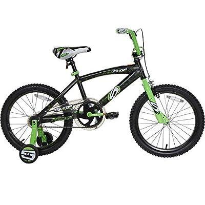 "Next 18"" Surge Boys' BMX Bike, Black/Green"