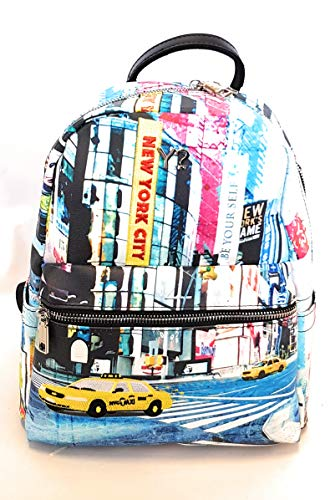 Ynot? Backpack Small New York Trimming Black