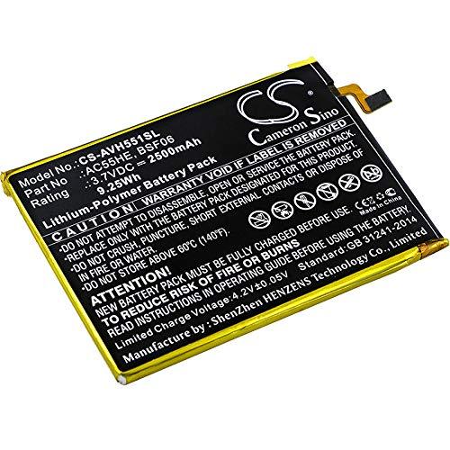 CS-AVH551SL Batteria 2500mAh compatibile con [ARCHOS] 55 Helium Ultra, A55 Helium sostituisce AC55HE, per BSF06