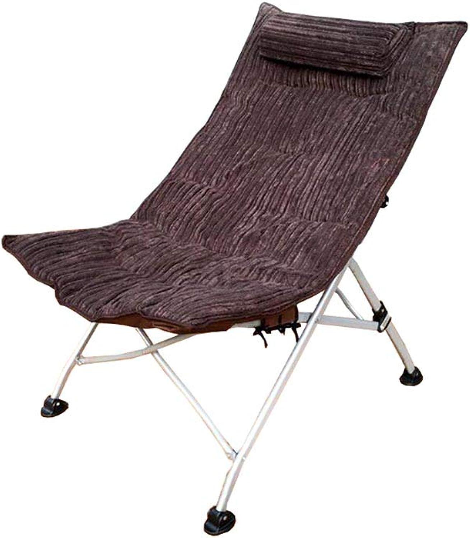 Chairs,QZ HOME Folding Chair Sun Lounger Office Lunch Break Chair Folding Sun Lounger 6 colors (color   Brown)