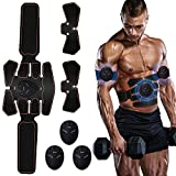 Moonssy EMS Muskelstimulator Bauchtrainer ABS Trainingsgerät ABS Trainer Professionelle Elektrostimulation Elektrisch Bauchmuskeltrainer Fitnessgürtel für Damen Herren