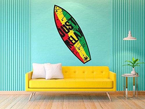 Oedim Tabla de Surf Just Relax Grieta | 150x45cm | Fabricado en Vinilo Adhesivo Resistente y Económico | Pegatina Adhesiva Decorativa de Diseño Elegante