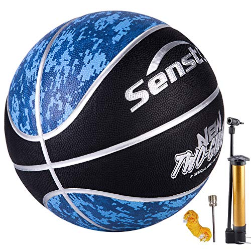 Great Price! Senston Official Basketball 29.5 Outdoor Indoor Mens Basketballs Red Black with Pump Ne...