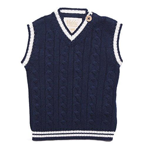 Viddia Débardeur en tricot pour bébé et tout-petit - Bleu - 0-3 mois