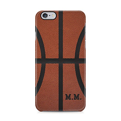 Basketball Ball Personalized Customizable Custom Name Iniziale Text Create Your Own Gift Present Custodia Protettiva in Plastica Rigida Case Cover Compatible with iPhone 6 / 6s Case
