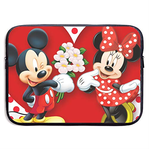 Laptop Sleeve Bag Mickey Mouse Minnie Love Couple Heart Notebook Tablet Bag for 13-15 Inch MacBook Pro/MacBook Air/Notebook Computer