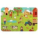 Rocita Juego 60 Pcs Puzzle Piezas de Madera del Rompecabezas con Caja Metal Juguetes Educativos para niños