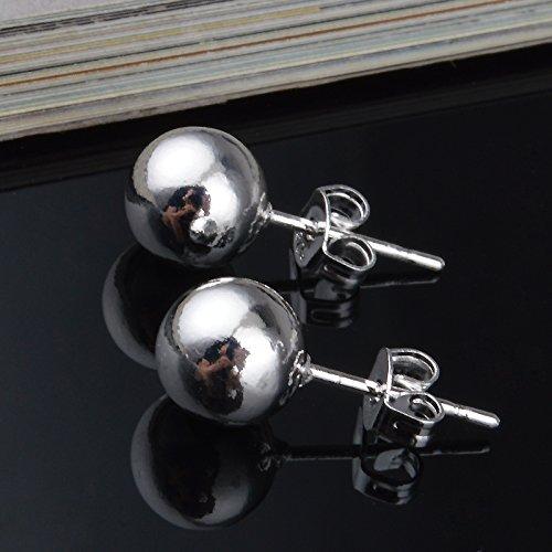 skyllc 925 Plata esterlina Pendientes de la Manera Mujer Perlas en Forma de 8M