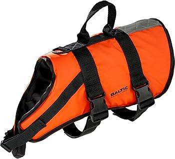 Baltic Standard Gilet de Sauvetage pour Chien avec Sangle Fermeture Velcro Orange Orange Large 15-40 Kg