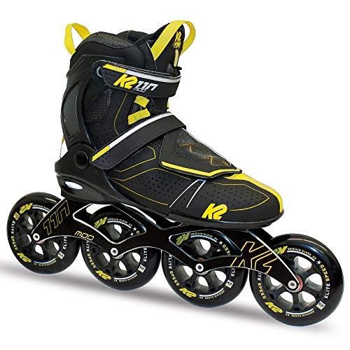 K2 Inline Skates MOD 110 Für Erwachsene Mit K2 Softboot, Black - Yellow, 30C0021
