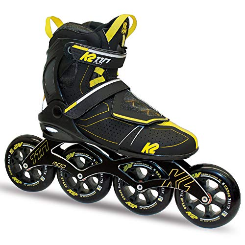 Lowest Price! K2 Skate Men's Mod 110 Inline Skate, Gray Black Yellow, 7