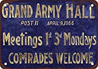 1866グランドアーミーミーティングホールコーヒーハウスまたはホームウォールインテリアメタルティンサイン