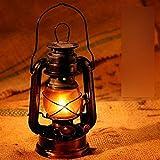 Lámpara de linterna que quema aceite, lámpara de linterna de aceite de queroseno tradicional, tradicional y tradicional, linterna de keroseno negra de estilo rural para la decoración del porche