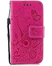 Lomogo iPhone5S / iPhone5 / iPhoneSE ケース 手帳型 耐衝撃 レザーケース 財布型 カードポケット スタンド機能 マグネット式 アイフォン iPhone 5S 5 SE 手帳型ケース カバー 人気 -