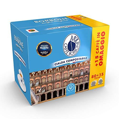 Caffè Borbone Cialde - Nobile Mischung - 95 Kaffee Kaffeepads aus Papier Kaffee-Mischung Kompatibel mit ESE Papier Pads 44 mm
