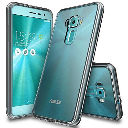 Ringke Zenfone 3 Hülle, Fusion kristallklarer PC TPU Dämpfer (Fall geschützt/Schock Absorbtions-Technologie) für das ASUS Zenfone 3 - Rauchschwarz