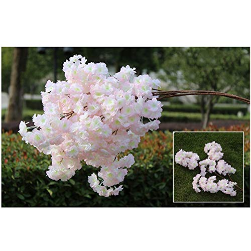 YSQSPWS Artificial flowers Artificial Flowers Fake Flower Silk Cherry Blossoms Simulation Faux Flower DIY Wedding Home Party Ornament Ceiling Decoration Environmental protection (Color : 2)