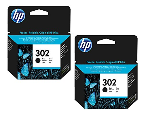 HP, cartuccia d'inchiostro originale F6U66AE HP 302 HP302 per HP Officejet 4650, circa 190 pagine/5%, colore: nero (02) 2x Tintenpatrone - Black