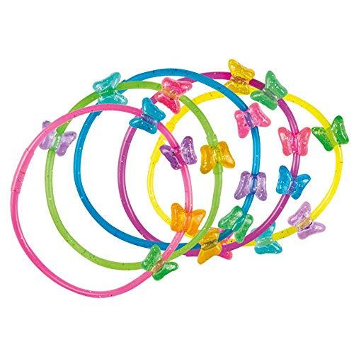 Boland 30819 - Armbänder Schmetterling mit Verschluss, 5 Stück, Schmuck, Armkette, Accessoire, Mitgebsel, Geburtstag