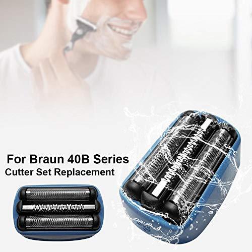 N/I Für Braun CoolTec 40B Foil & Cutter-Ersatzkopf, Elektrorasierer Kopf Scherkopf, Ersatzklingenkopf kompatibel mit CoolTec Shaver Dependable