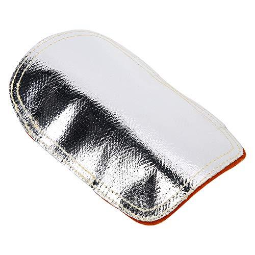 Protector de mano posterior, protector de calor de mano ignífugo, cuero de vaca Material aluminizado para fundición de metal de caldera industrial