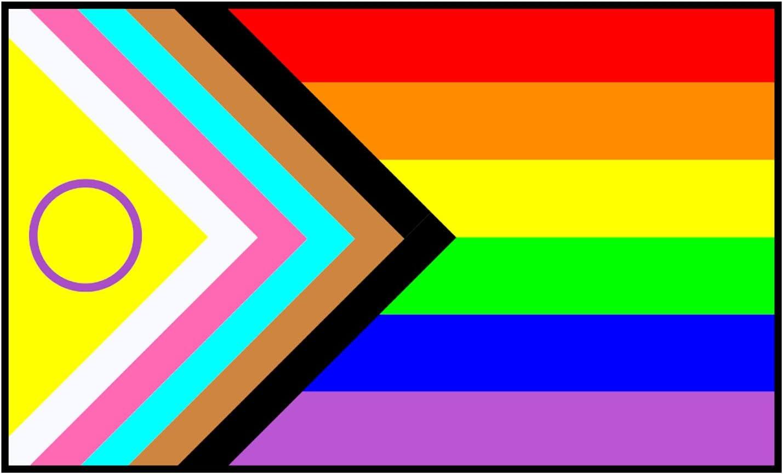 NEW Intersex Progress Pride LGBTQ+ LGBTQIA Inclusive Un Classic Decal Love