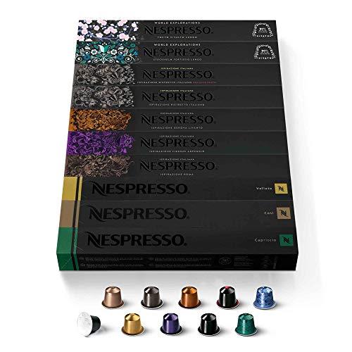 "100 Nespresso OriginalLine Capsules Mixed Flavors - ""NOT Compatible with VertuoLine machines"""