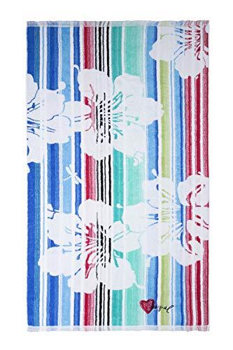 Desigual Living Blue Summer Toalla de Ducha, Algodón, Turquesa, 150x95x1 cm