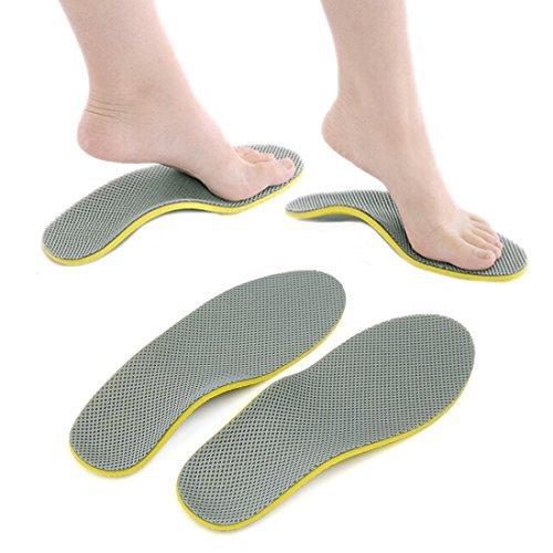 DealMux Par Unisex ortopédicas Pé Calçados Palmilhas Insert alta Arch Suporte Pad Almofada