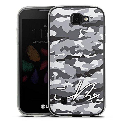 DeinDesign Silikon Hülle kompatibel mit LG K3 (2017) Hülle transparent Handyhülle Camouflage iBlali YouTube