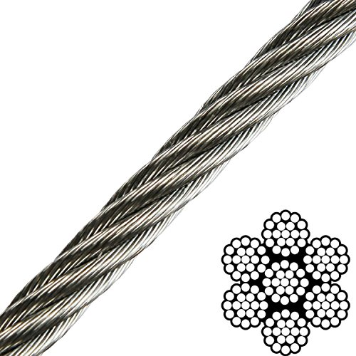 1/8' x 50' 7x19 316 Stainless Steel Aircraft Cable