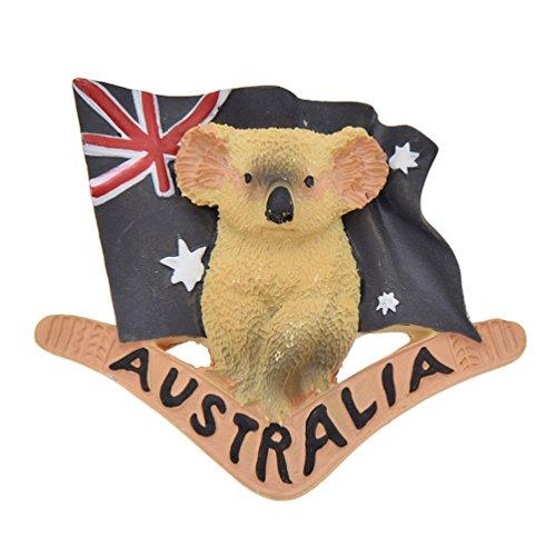 Hongma Magnete del Frigorifero Calamita da Frigo Magneti per Frigo Koala Australia Bandiera Fridge Magnet Regalo