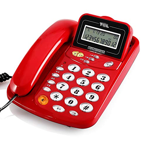 Telefoon bureaustoel vaste telefoon vaste netaansluiting gratis batterij-oproepherkenning, rood